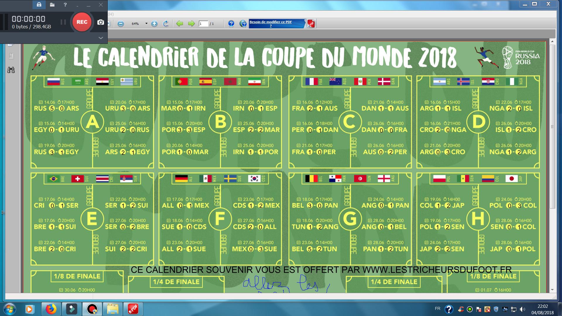 Resultats Des Matches Des 8 Groupes Jusqu A La Finale